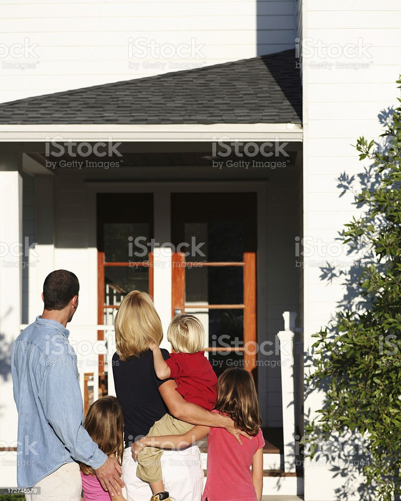Family moving into New Home royalty-free stock photo