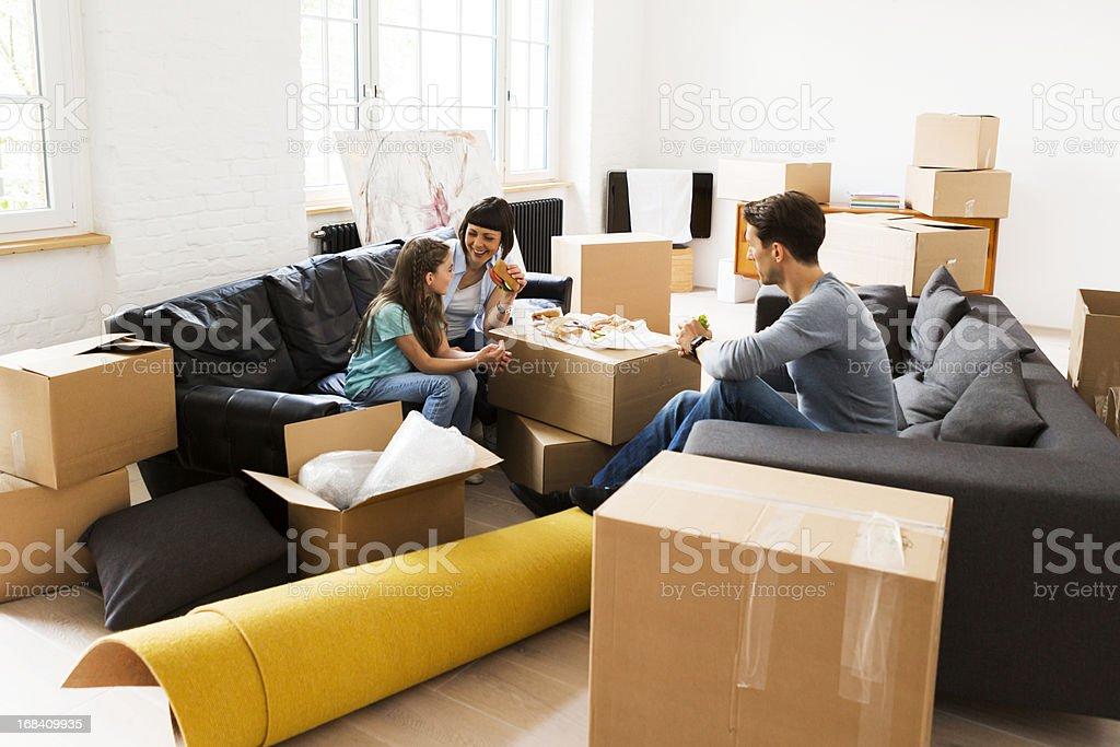 Family Moving royalty-free stock photo