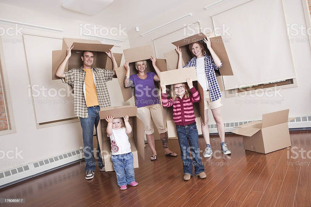 Family Moving Time stock photo