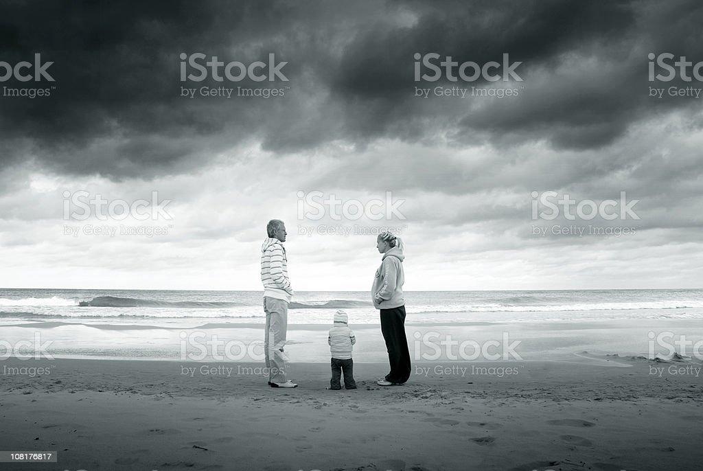 Family near the sea royalty-free stock photo
