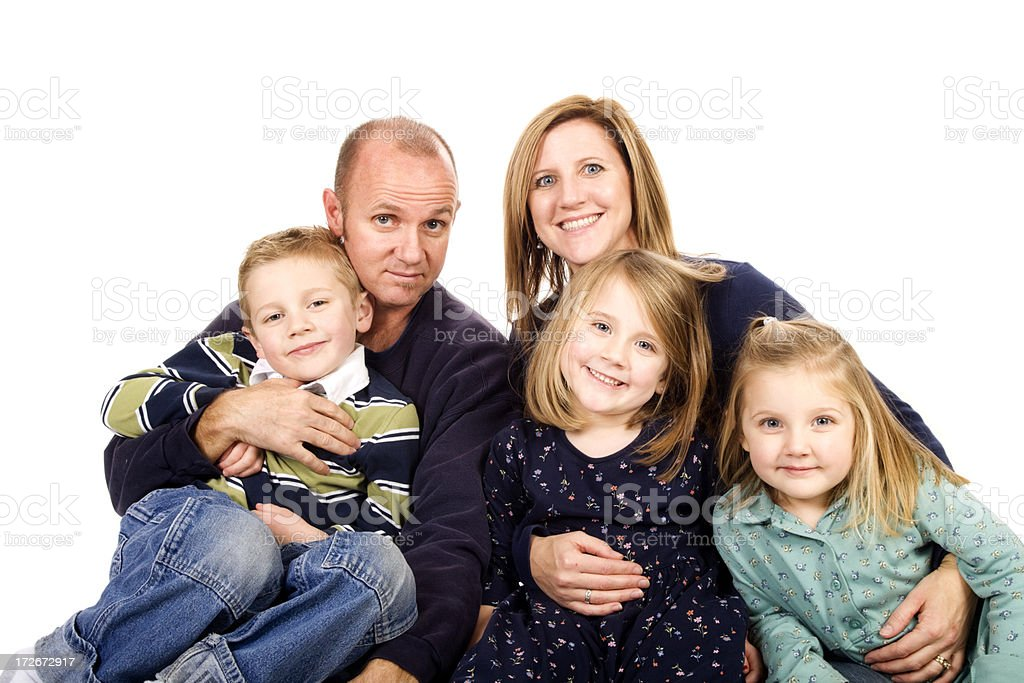 Family of five royalty-free stock photo