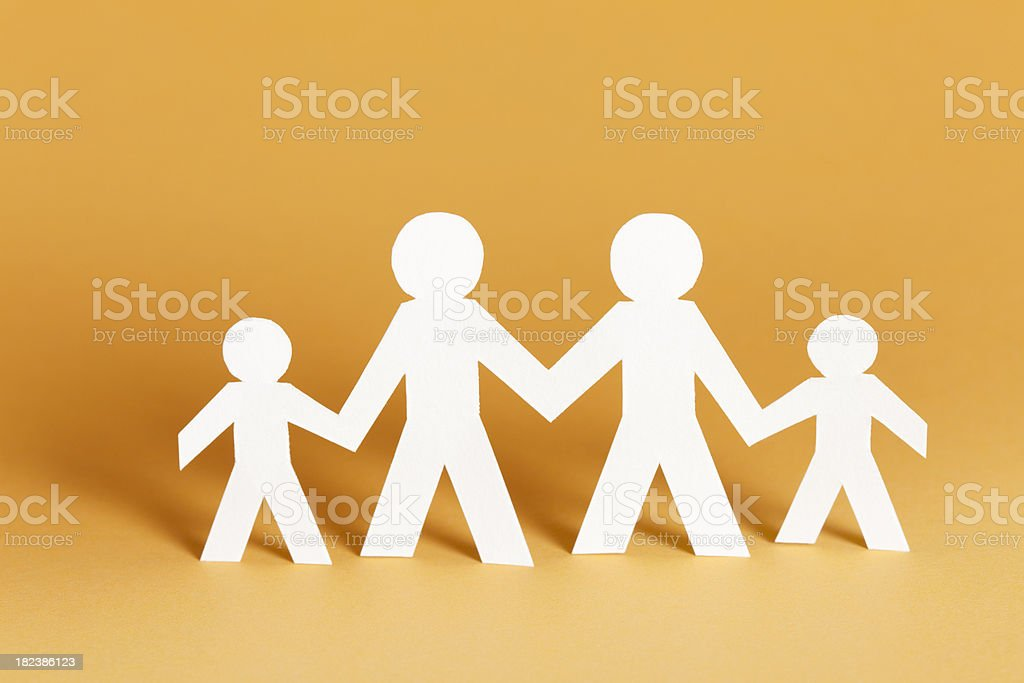 Family of four concept royalty-free stock photo