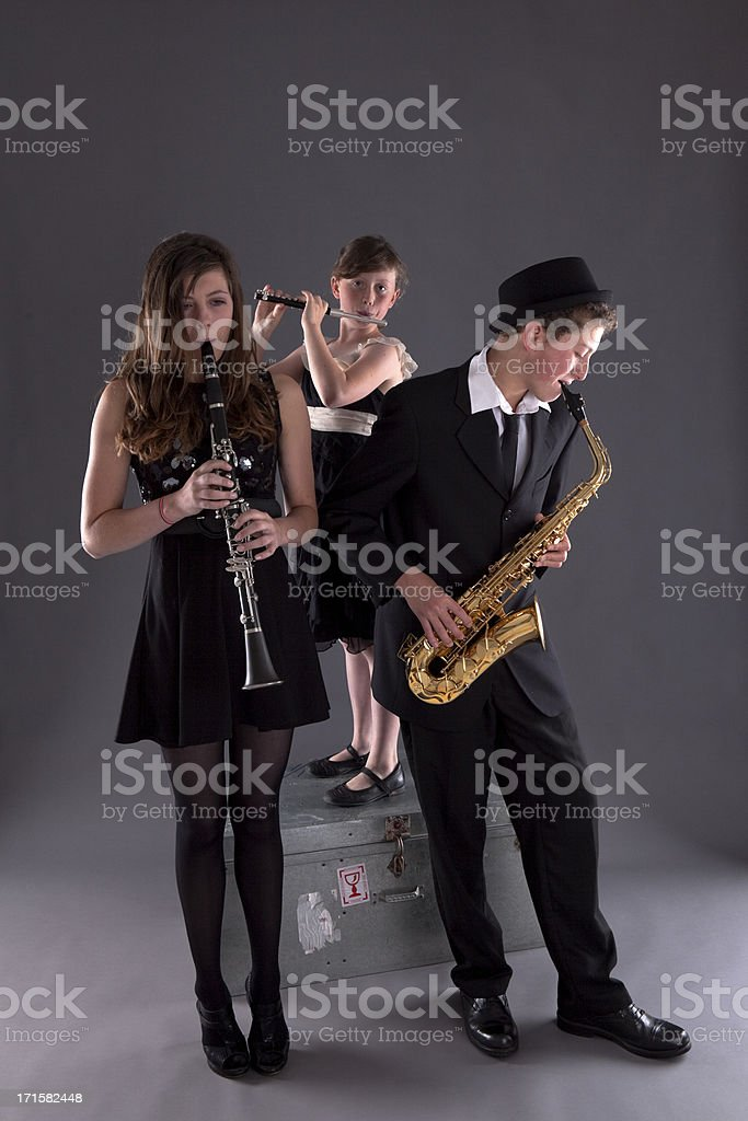 Family Of Musicians stock photo