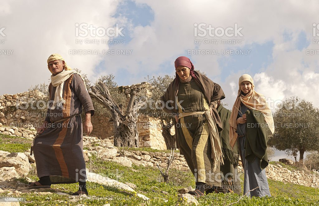 Family of Nazareth Village stock photo