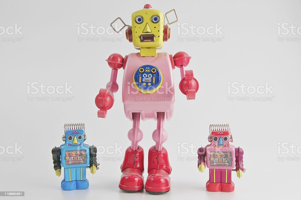 Family of robots royalty-free stock photo