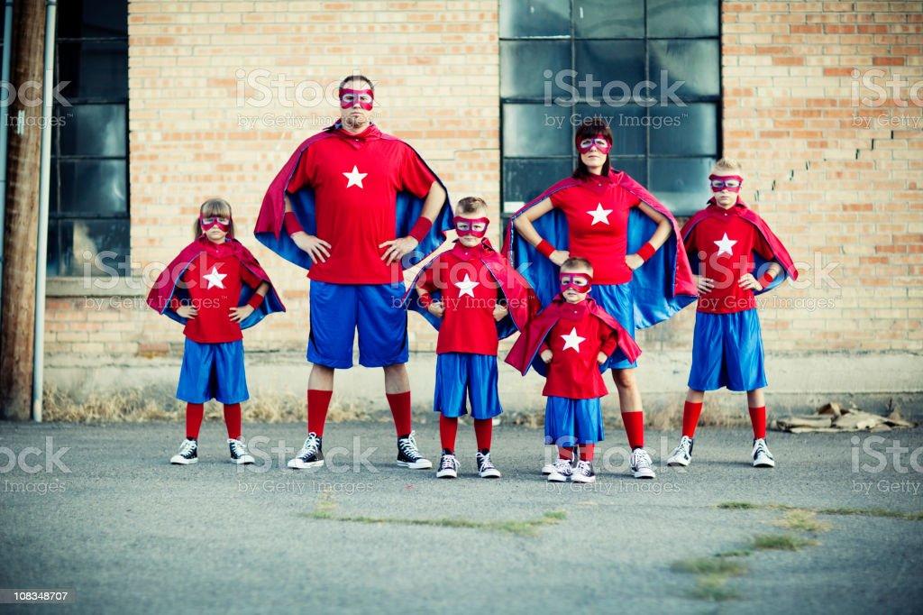 Family of Superheroes stock photo