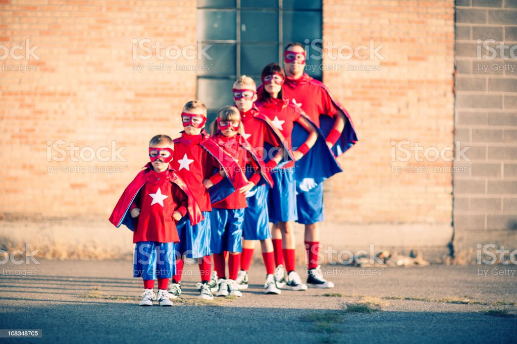 Family of Supers royalty-free stock photo