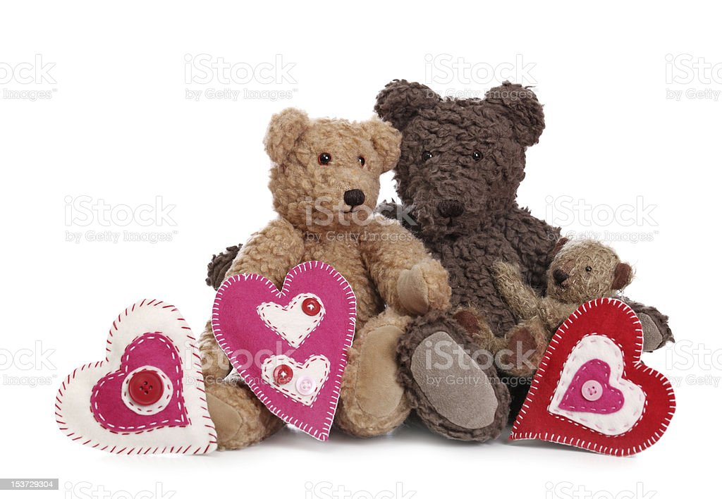 Family of teddy bears royalty-free stock photo