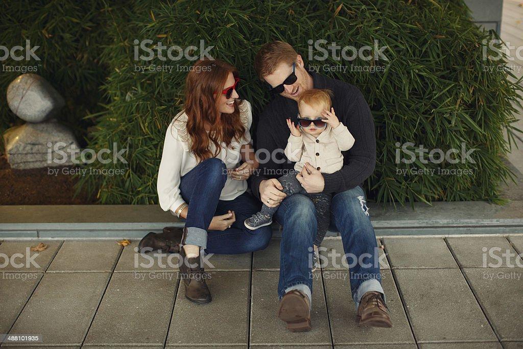 Family of Three stock photo