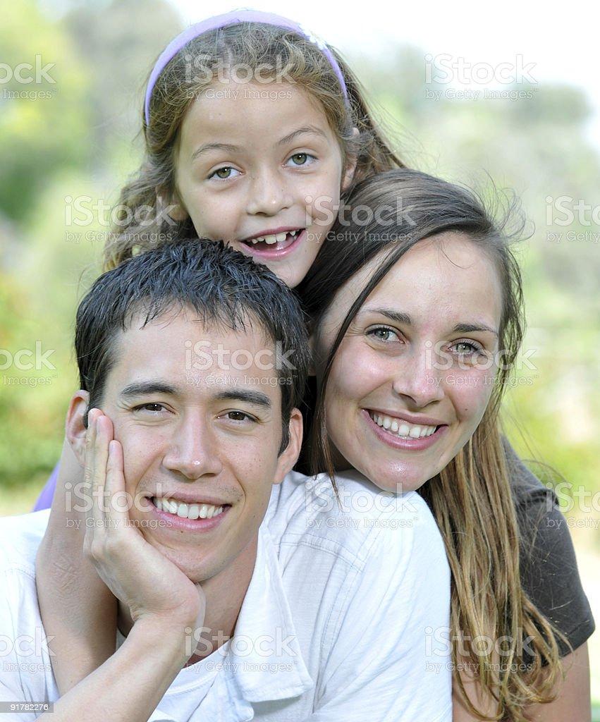 Family of Three royalty-free stock photo