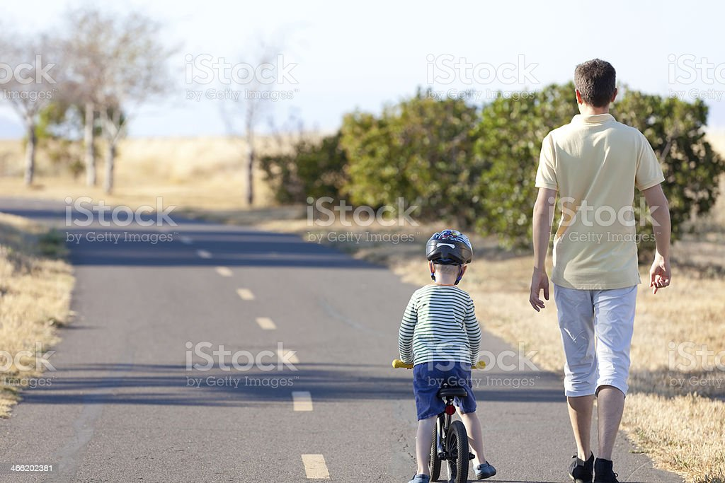 family of two outside royalty-free stock photo
