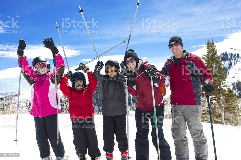 Family on a Ski Vacation royalty-free stock photo