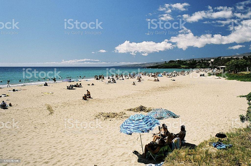 Family on Hawaii beach royalty-free stock photo
