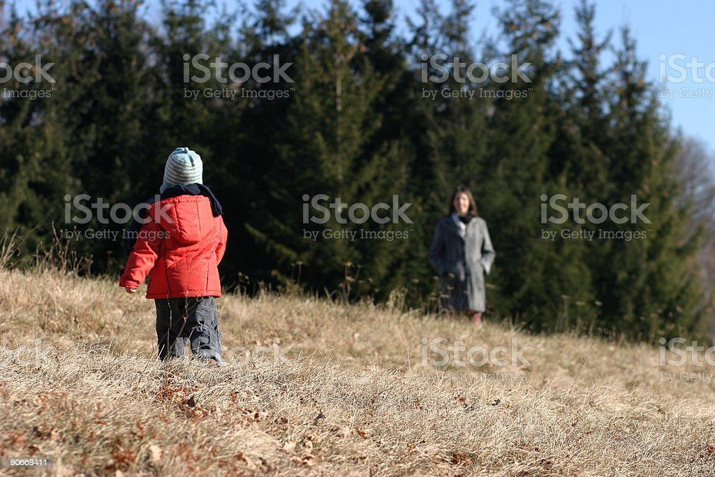 Family on the stroll royalty-free stock photo