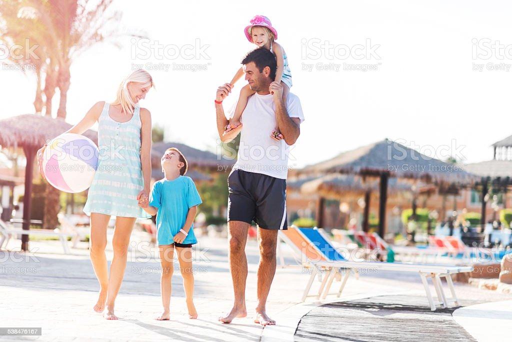 Family on vacation. stock photo