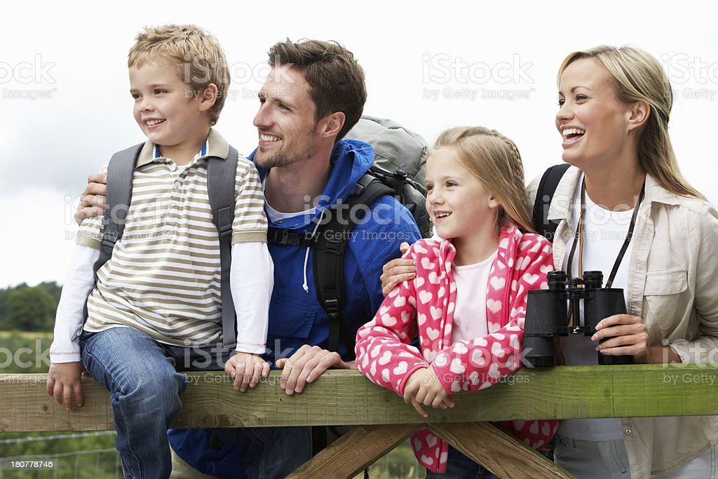 Family On Walk In Countryside royalty-free stock photo