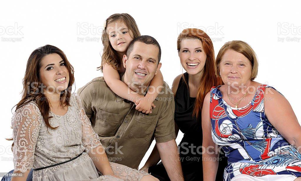 family on white background royalty-free stock photo