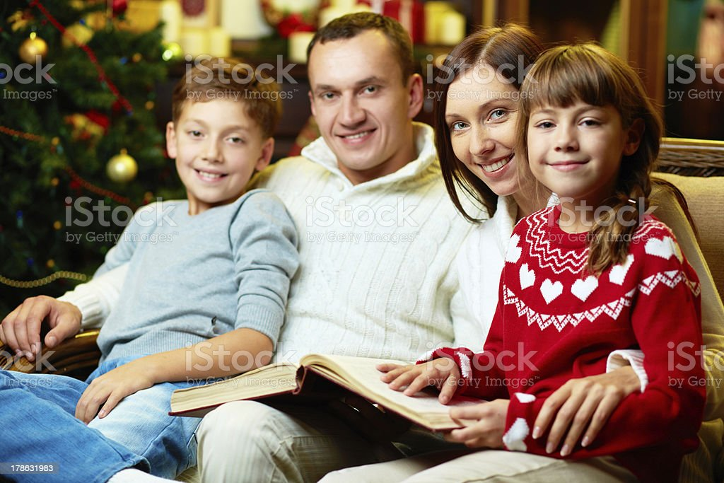 Family on xmas royalty-free stock photo