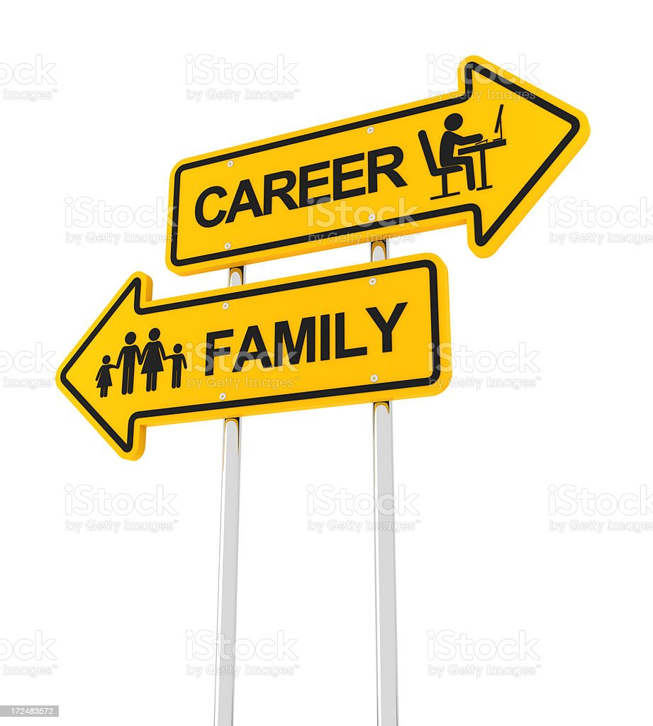 Family or career royalty-free stock photo