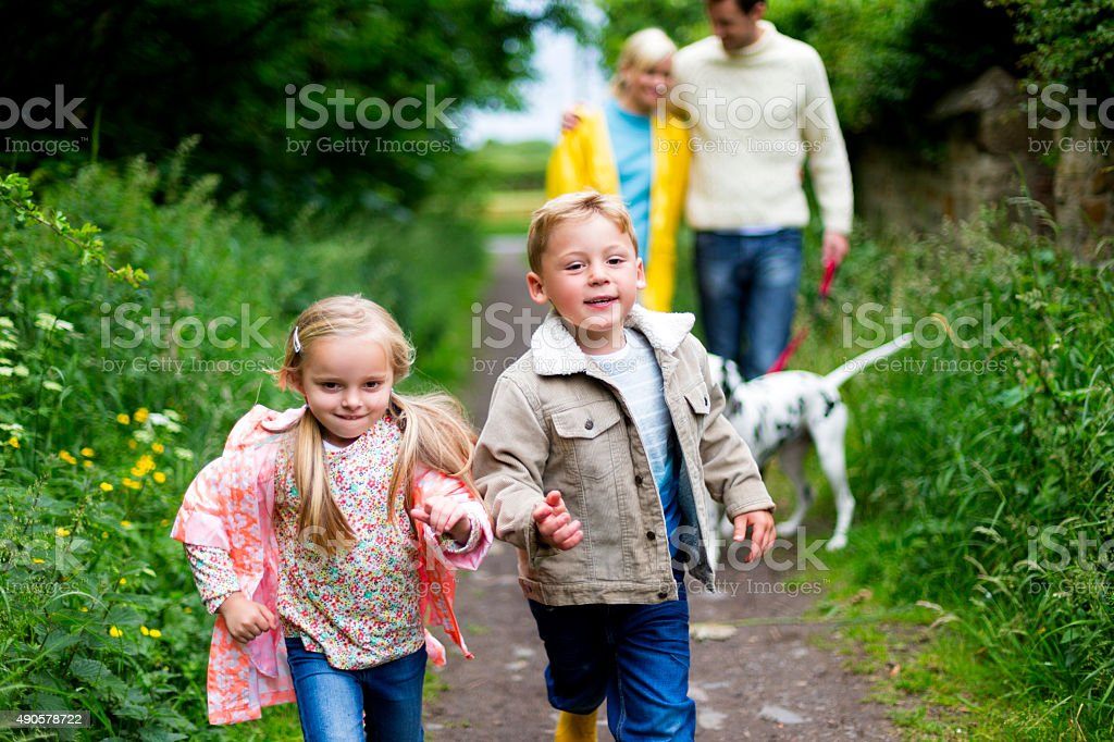 Family Outdoor Adventure stock photo
