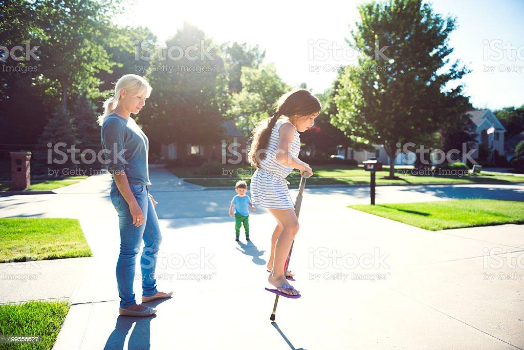 Family outdoor royalty-free stock photo