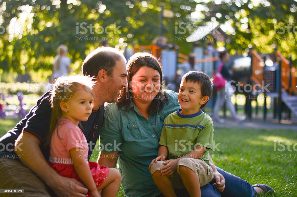 family outdoor togeder stock photo
