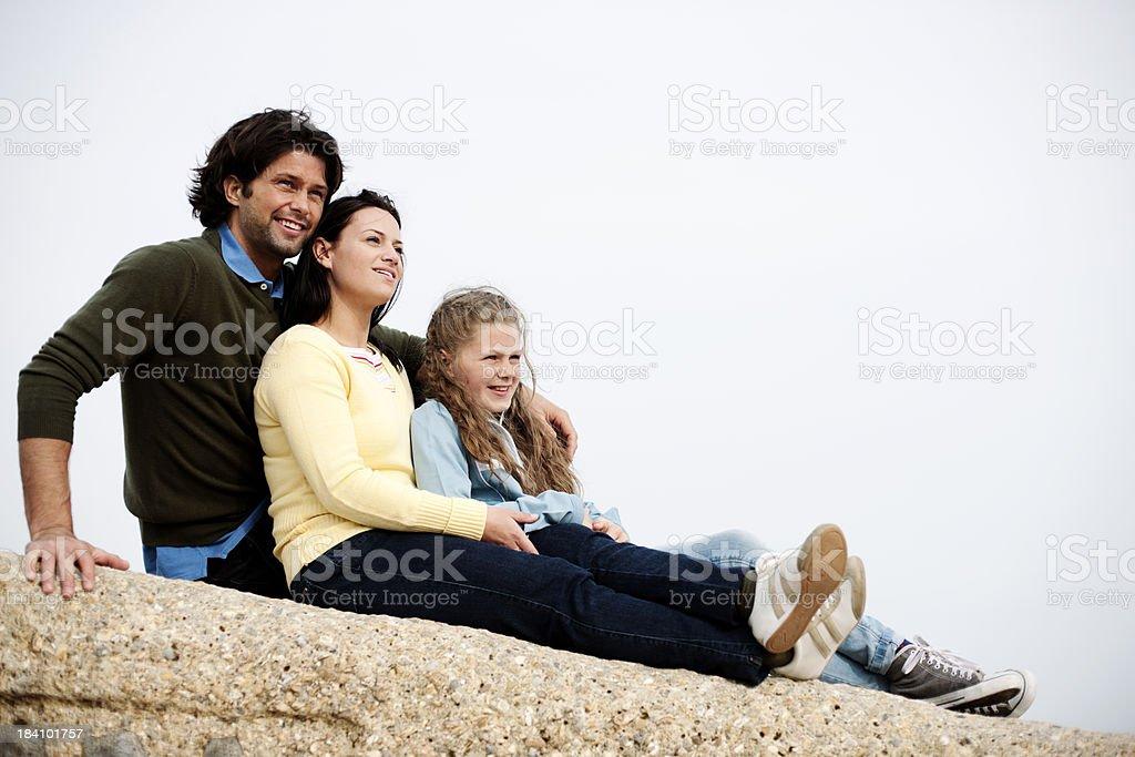 Family outing stock photo