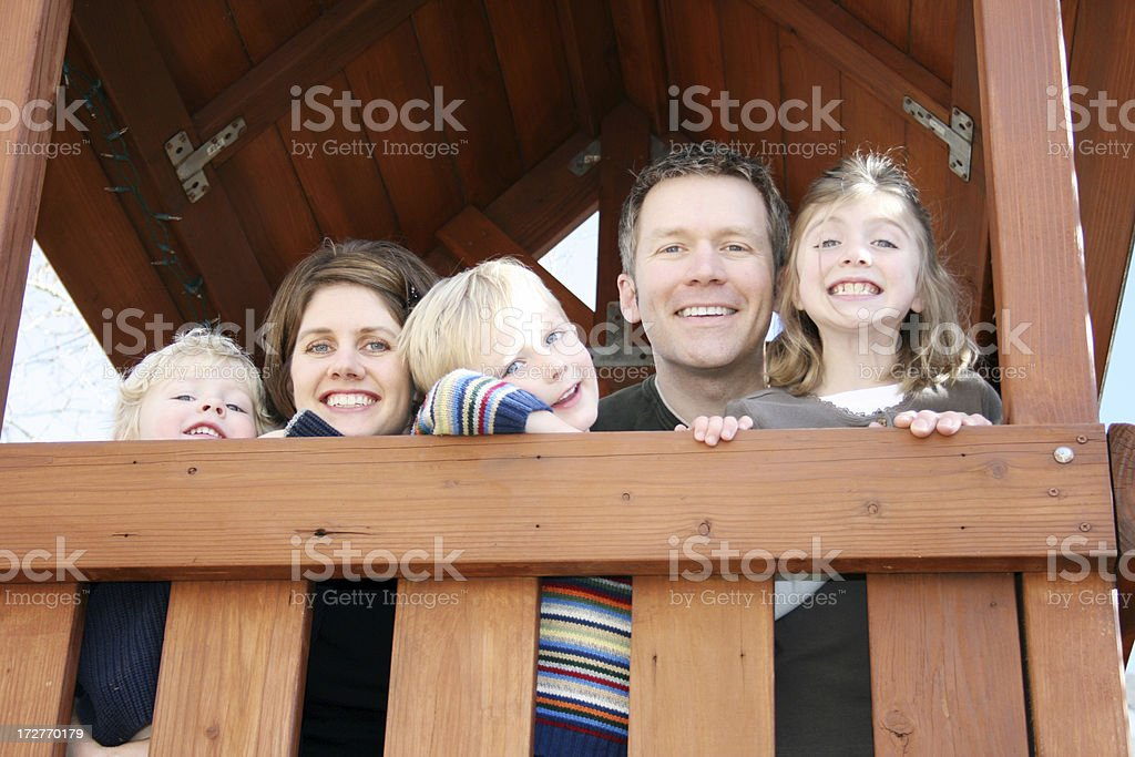 Family Outside royalty-free stock photo