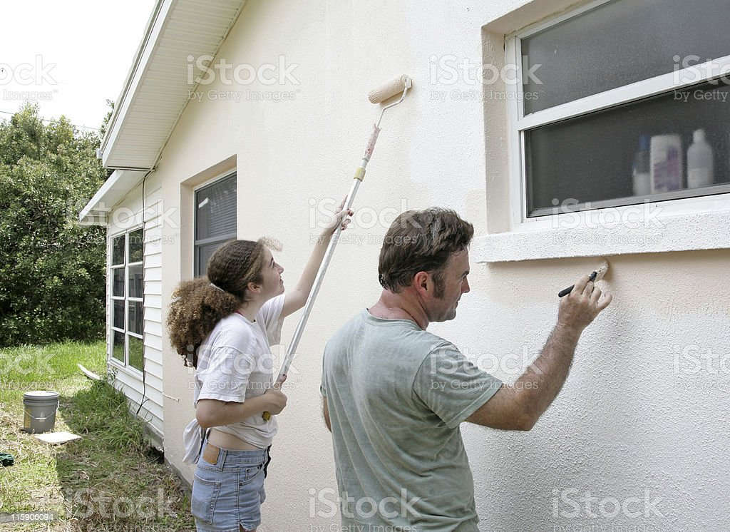 Family Painting Project royalty-free stock photo