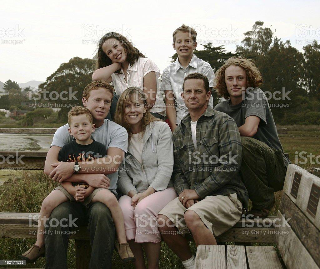 family photo stock photo