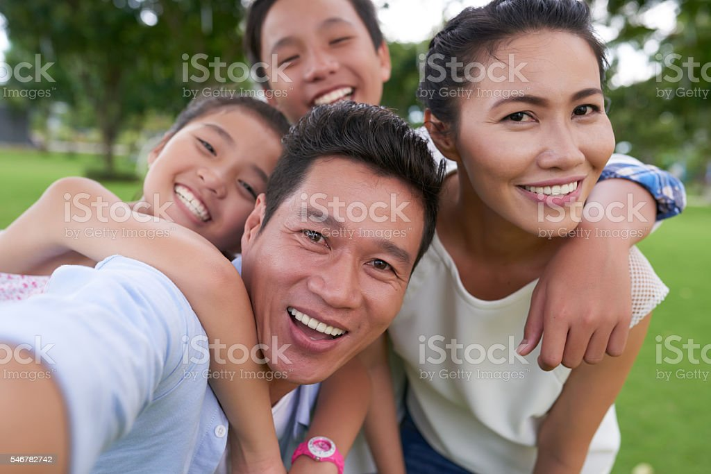 Family photo stock photo