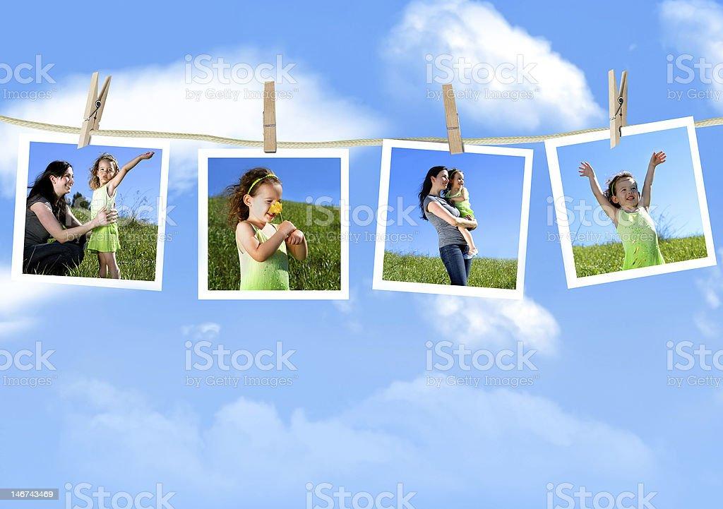 Fotografías familiares foto de stock libre de derechos