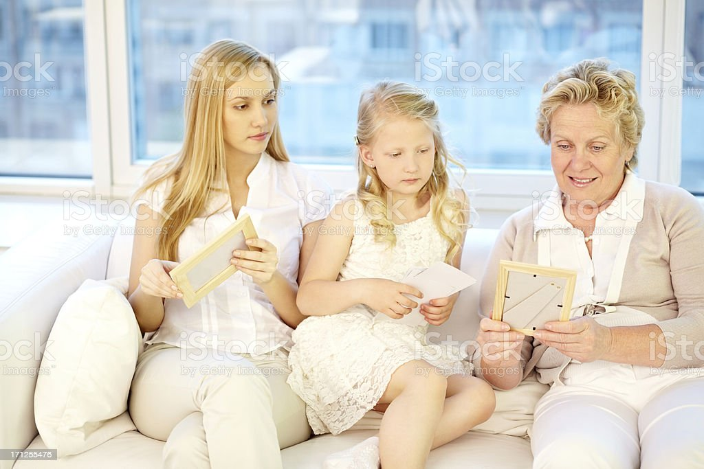 Family photos royalty-free stock photo