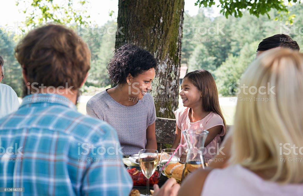 Family Picnic Party stock photo