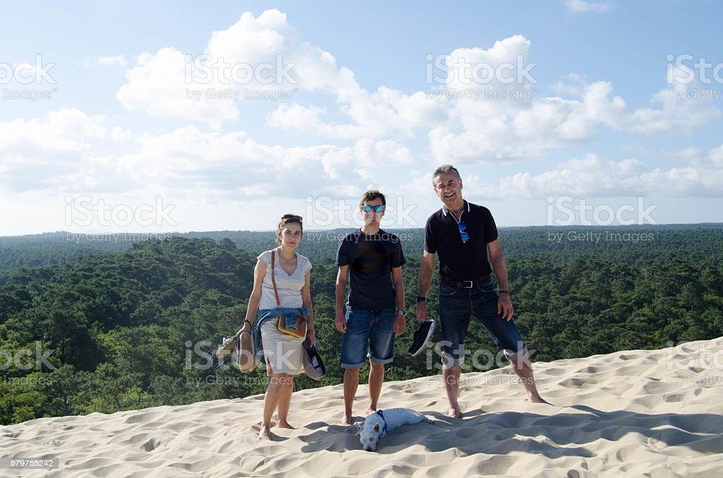 Family (Dune du Pyla) stock photo