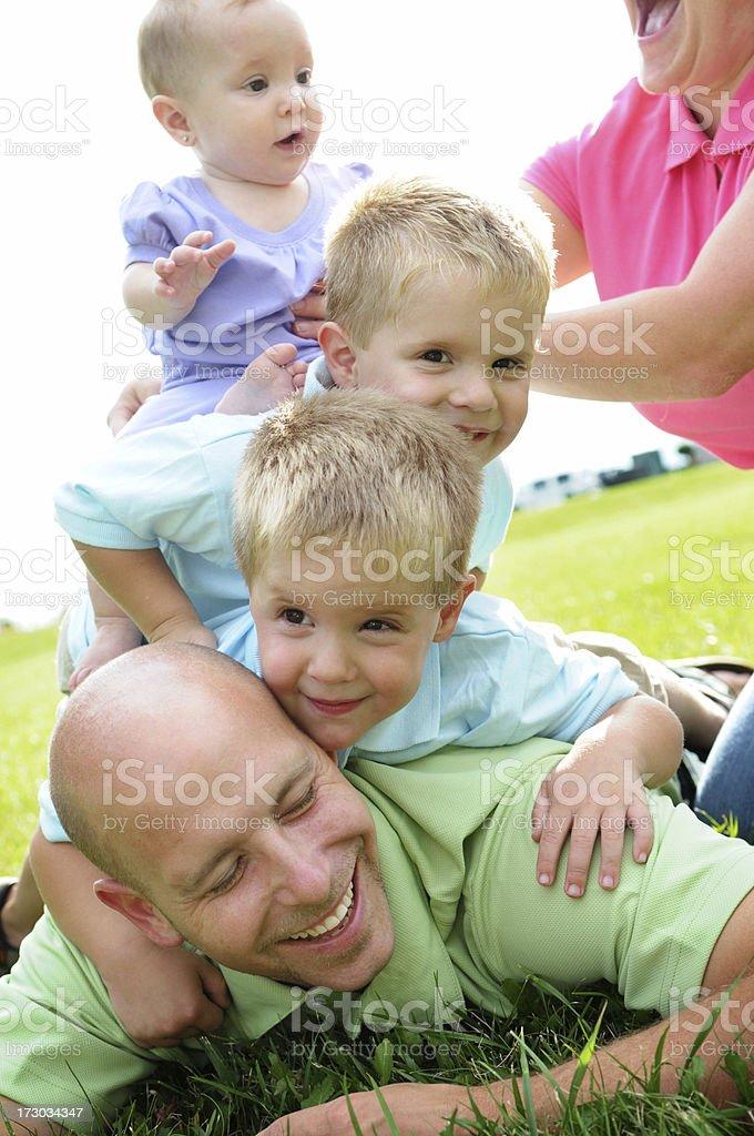 Family Pile! royalty-free stock photo