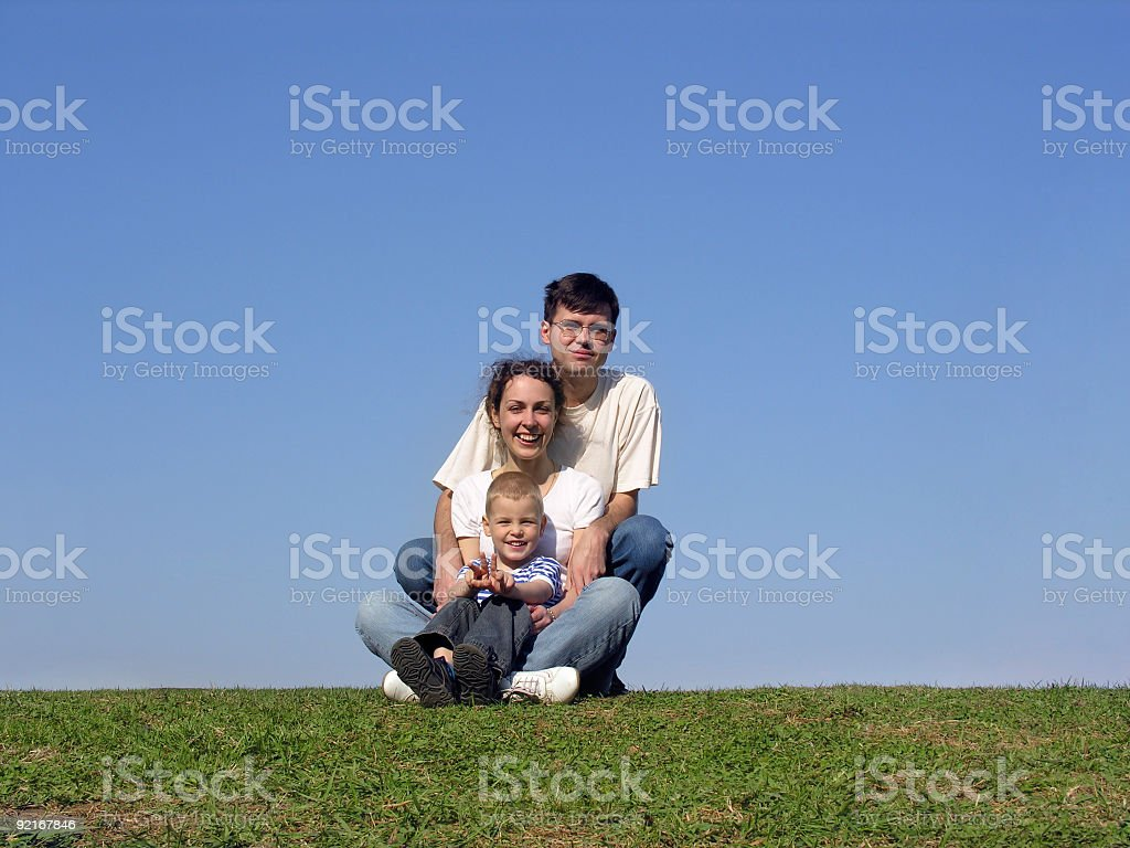 family piramide. meadow royalty-free stock photo