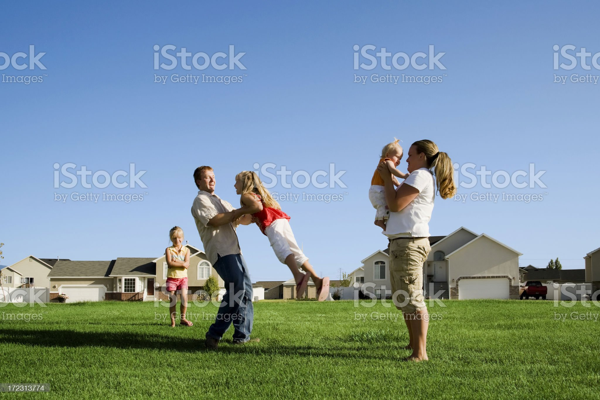 Family Play Time in the Park royalty-free stock photo