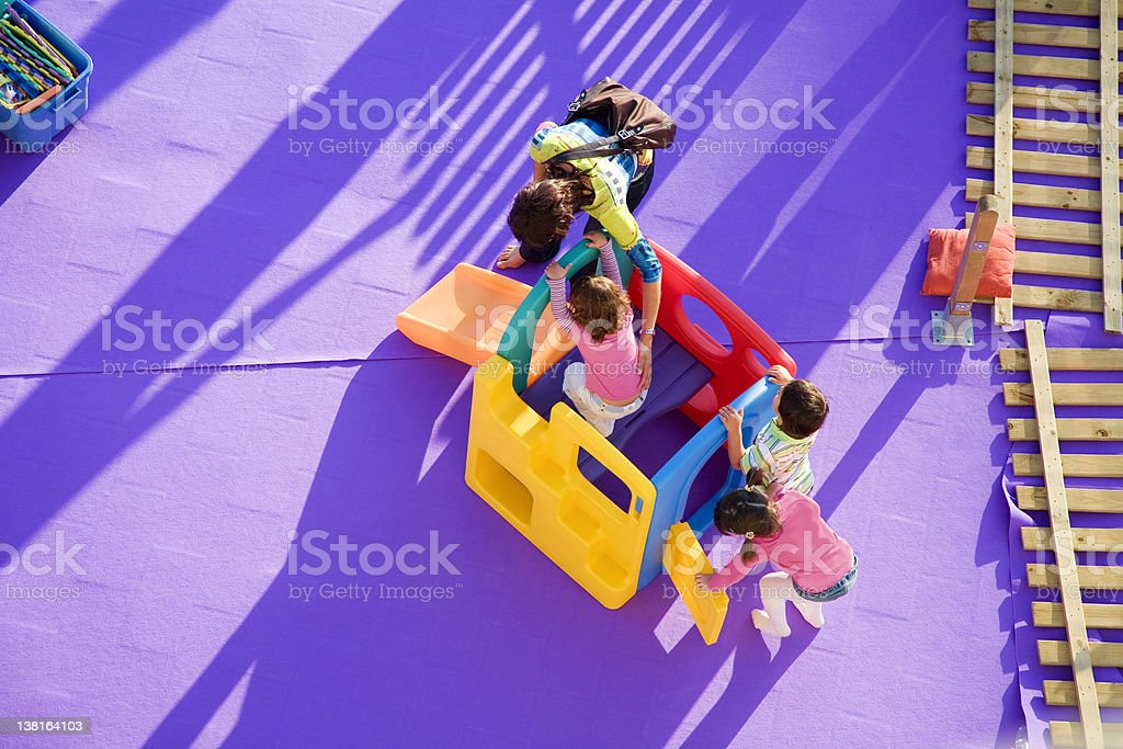 Family playing together royalty-free stock photo