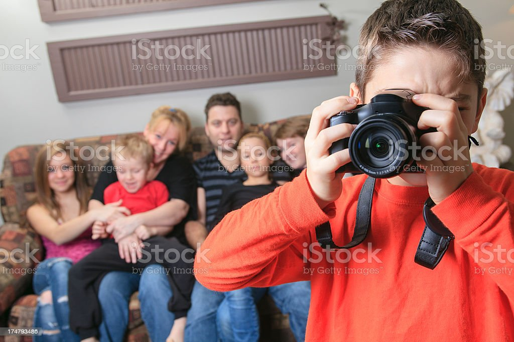 Family Portrait Children Picture royalty-free stock photo