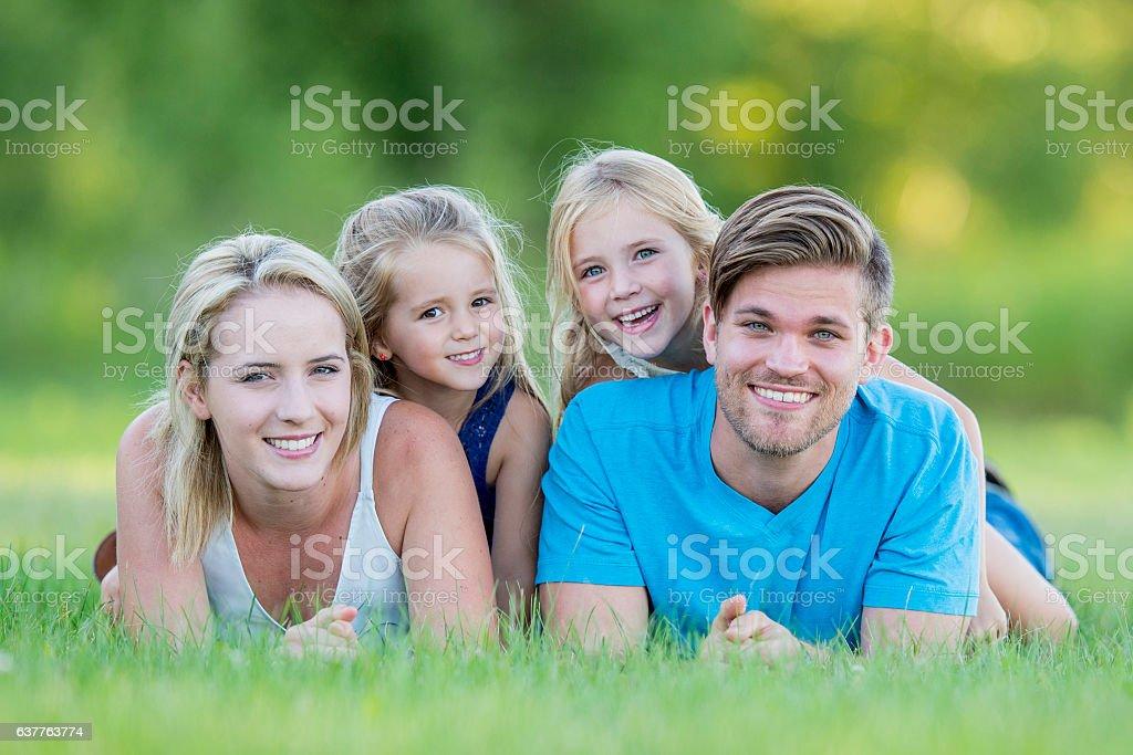 Family Portrait in Nature stock photo
