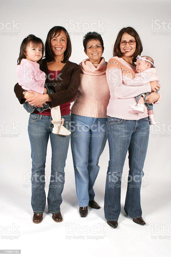 Family Portrait of Women royalty-free stock photo