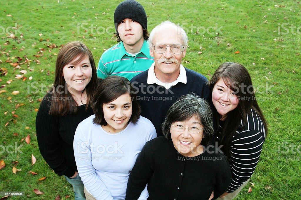 Family Portrait Outside royalty-free stock photo