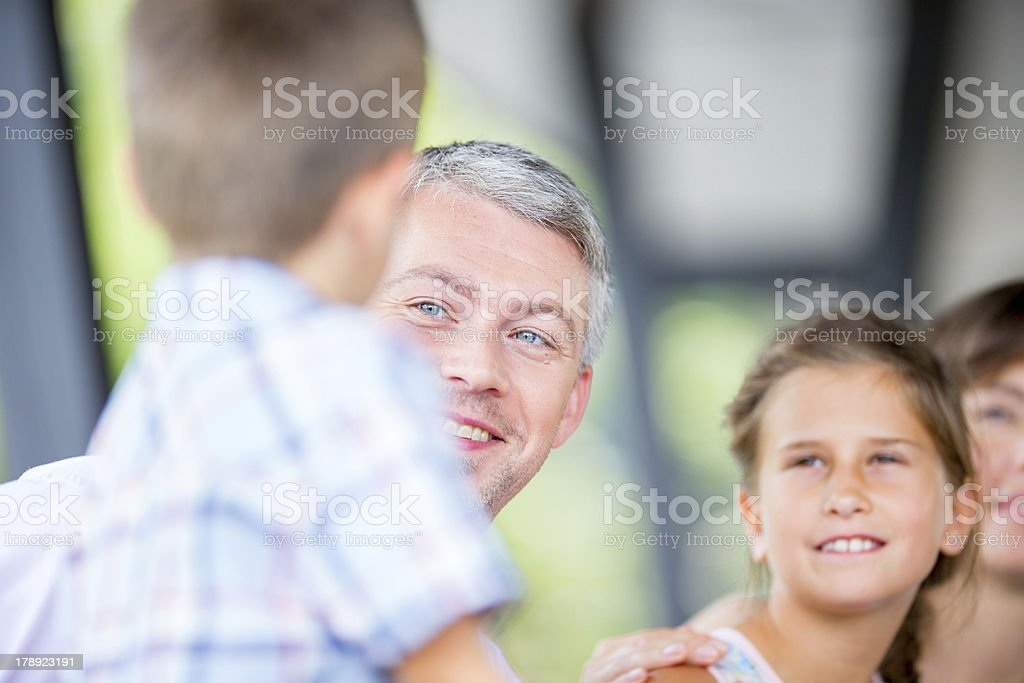 Family portrait royalty-free stock photo