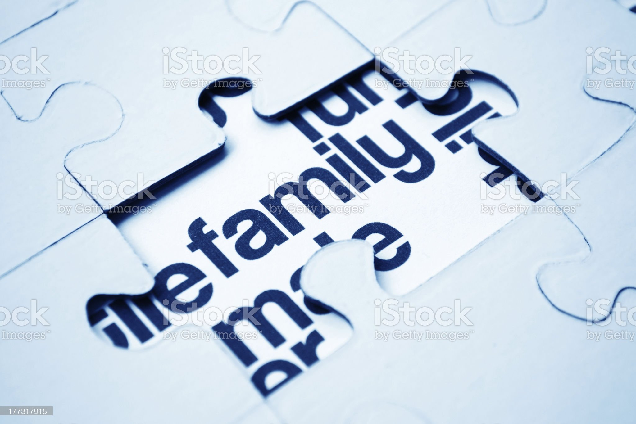 Family puzzle royalty-free stock photo
