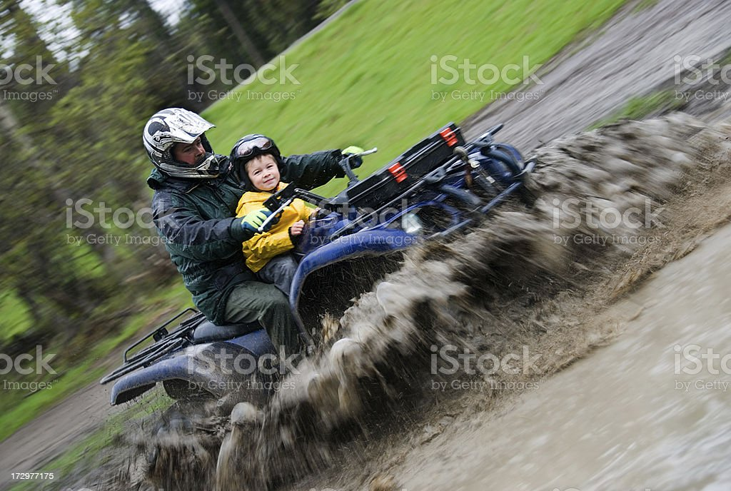 Family Quading royalty-free stock photo