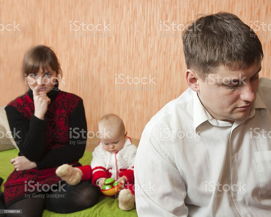 Family quarrel royalty-free stock photo