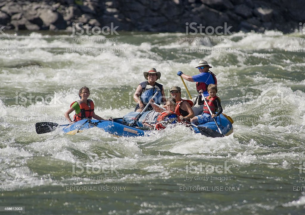 Family Rafting royalty-free stock photo