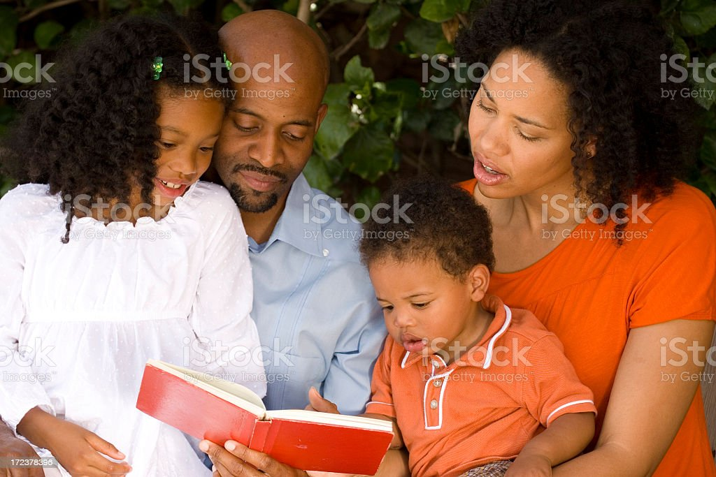Family Reading Time royalty-free stock photo