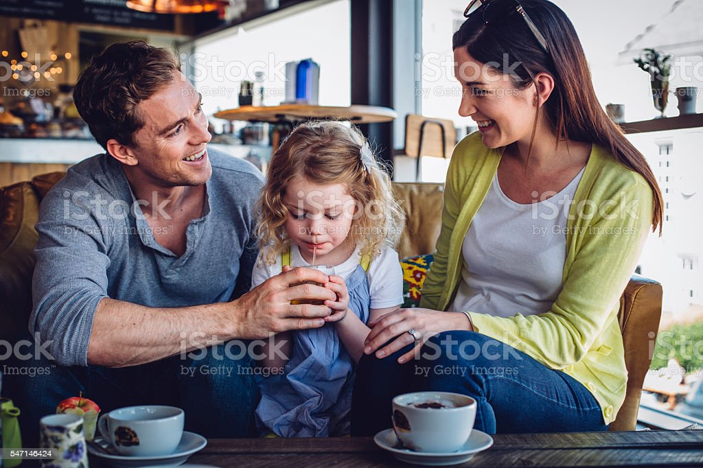 Family Refreshments stock photo